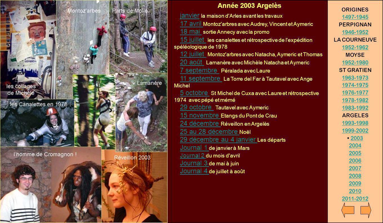 Année 2003 Argelès ORIGINES