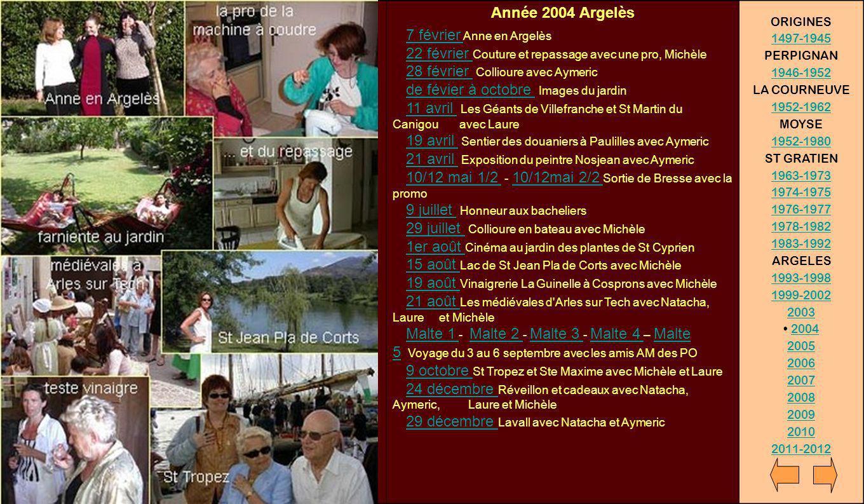Année 2004 Argelès ORIGINES