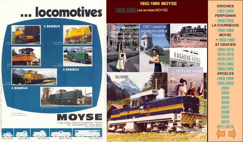 1952-1980 MOYSE ORIGINES 1952-1980 Les années MOYSE 1497-1945