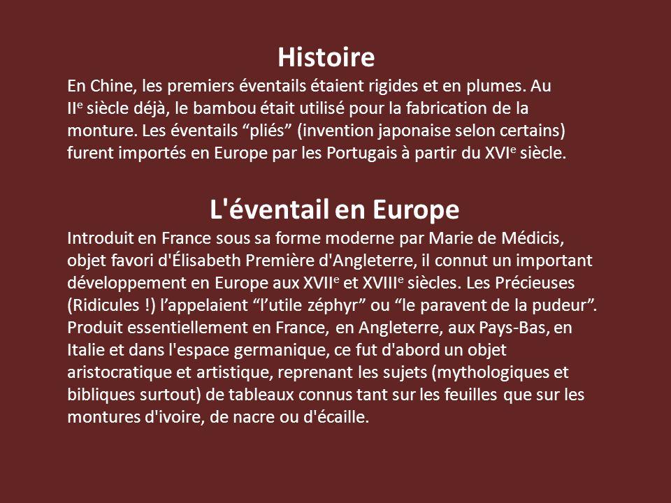 Histoire L éventail en Europe