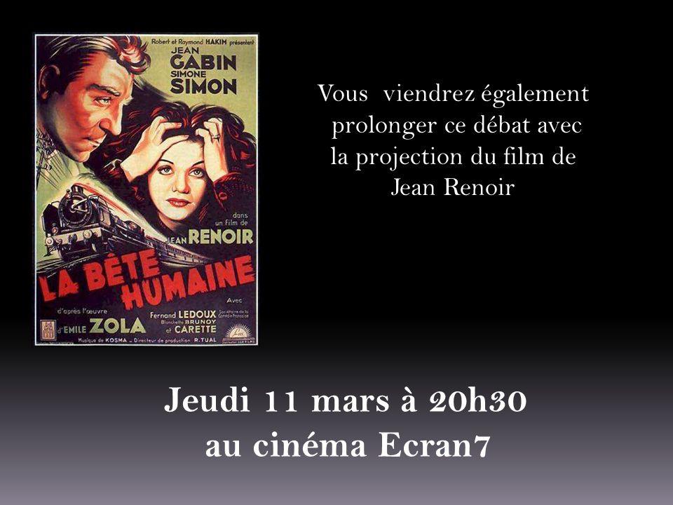 Jeudi 11 mars à 20h30 au cinéma Ecran7 Vous viendrez également