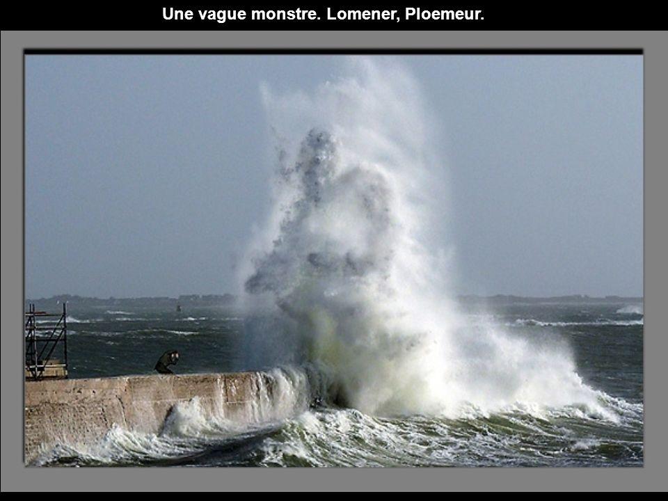 Une vague monstre. Lomener, Ploemeur.