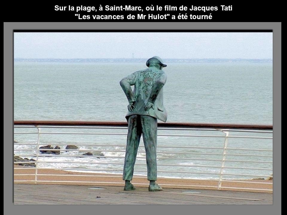 Sur la plage, à Saint-Marc, où le film de Jacques Tati