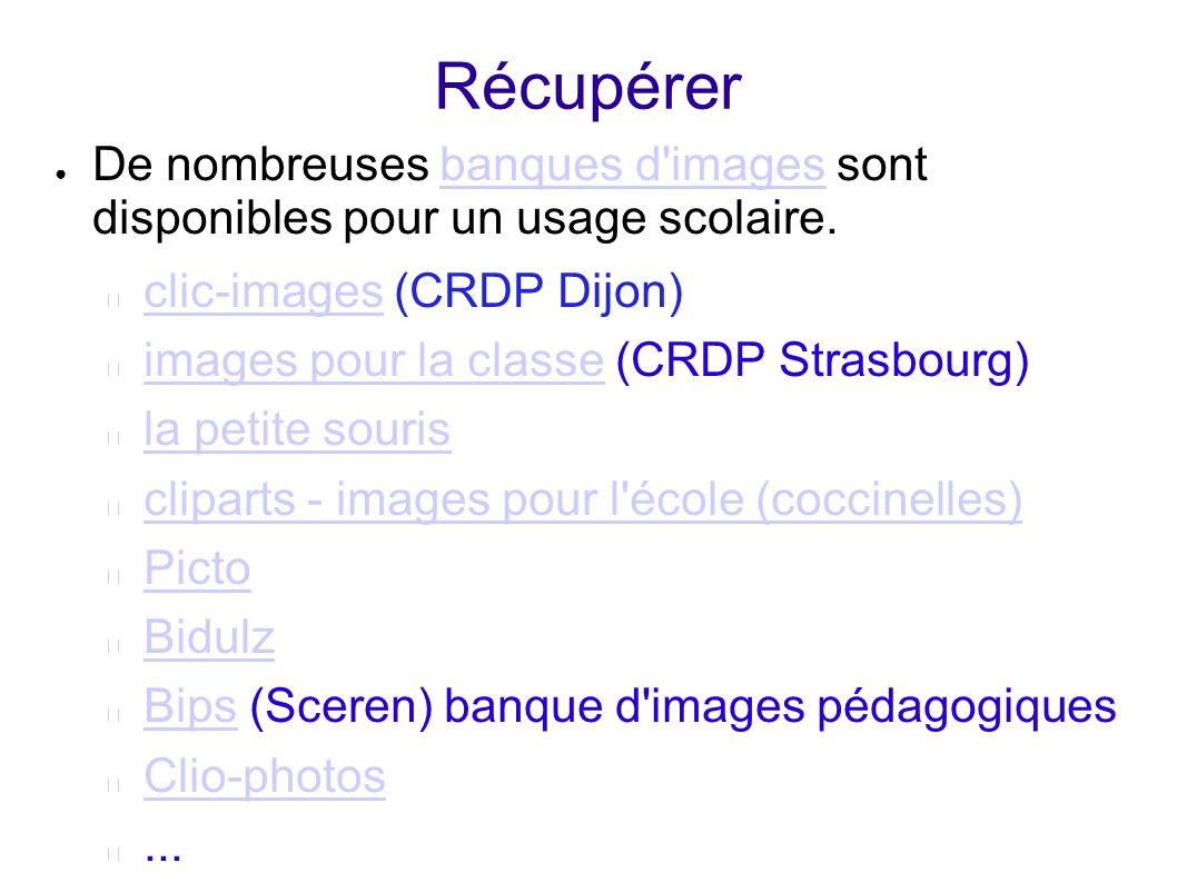 Récupérer De nombreuses banques d images sont disponibles pour un usage scolaire. clic-images (CRDP Dijon)