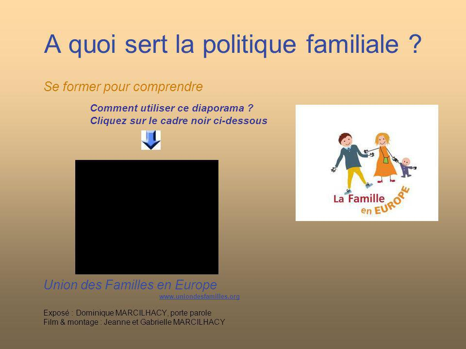 A quoi sert la politique familiale