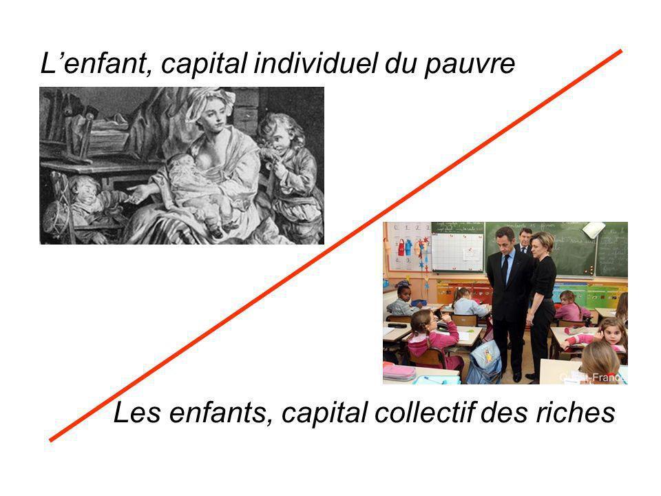 L'enfant, capital individuel du pauvre