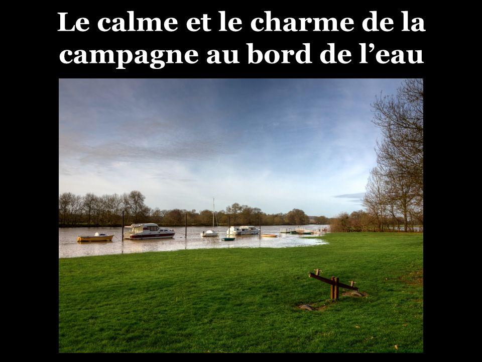 Le calme et le charme de la campagne au bord de l'eau