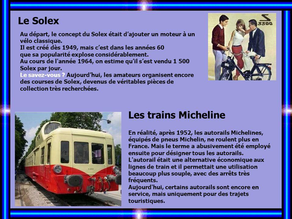 Allez les Filles… Le Solex Les trains Micheline