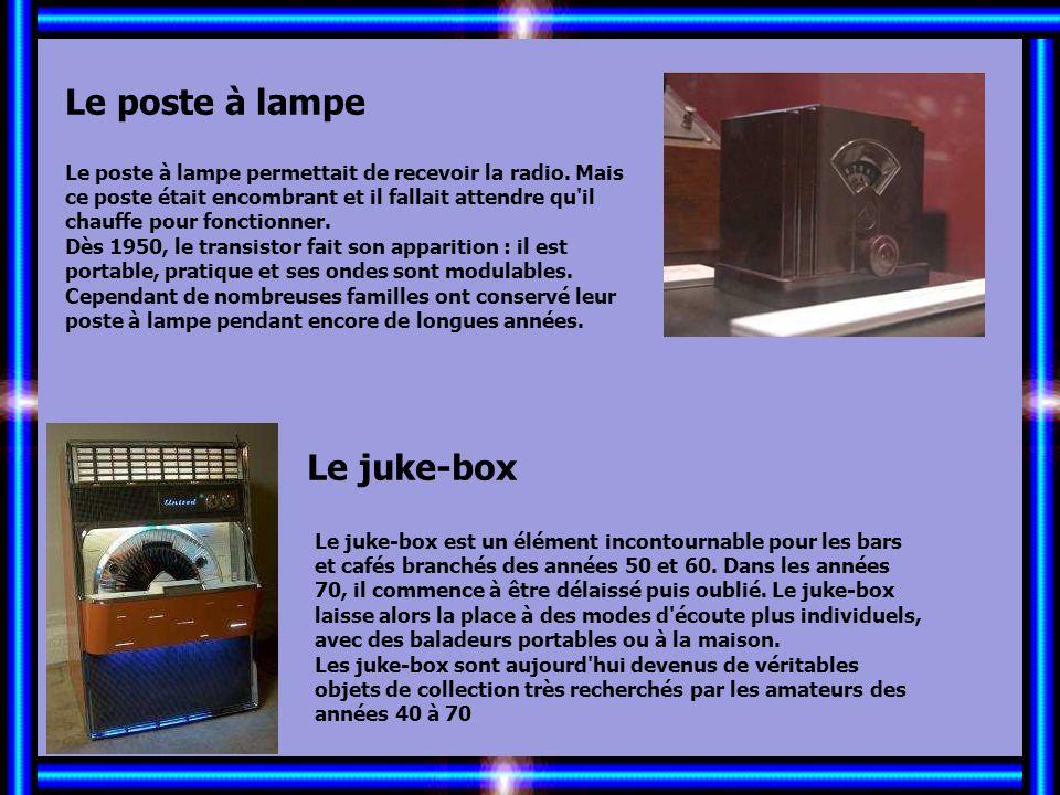Allez les Filles… Le poste à lampe Le juke-box