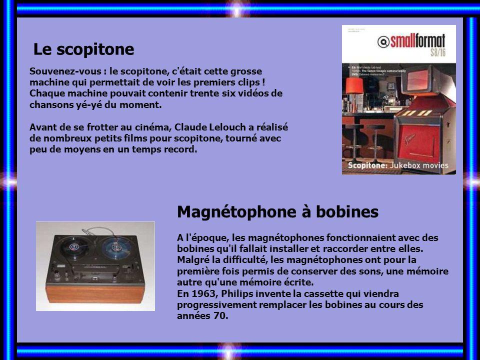 Allez les Filles… Le scopitone Magnétophone à bobines