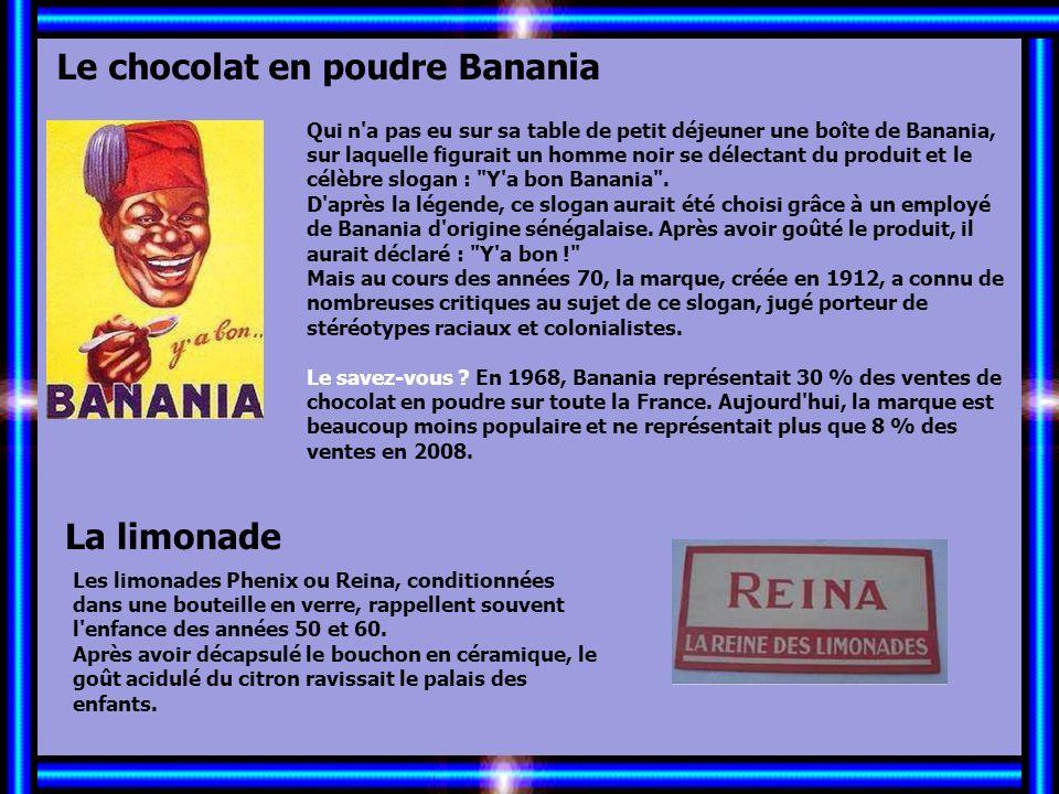 Allez les Filles… Le chocolat en poudre Banania La limonade