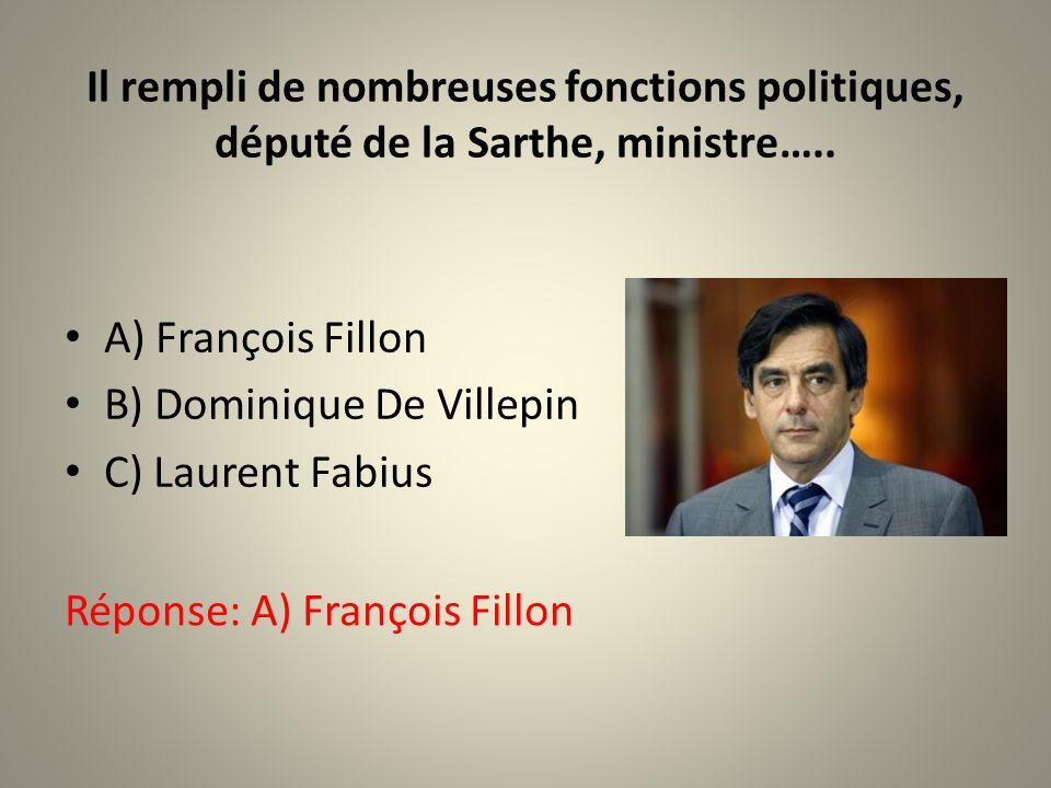 Il rempli de nombreuses fonctions politiques, député de la Sarthe, ministre…..