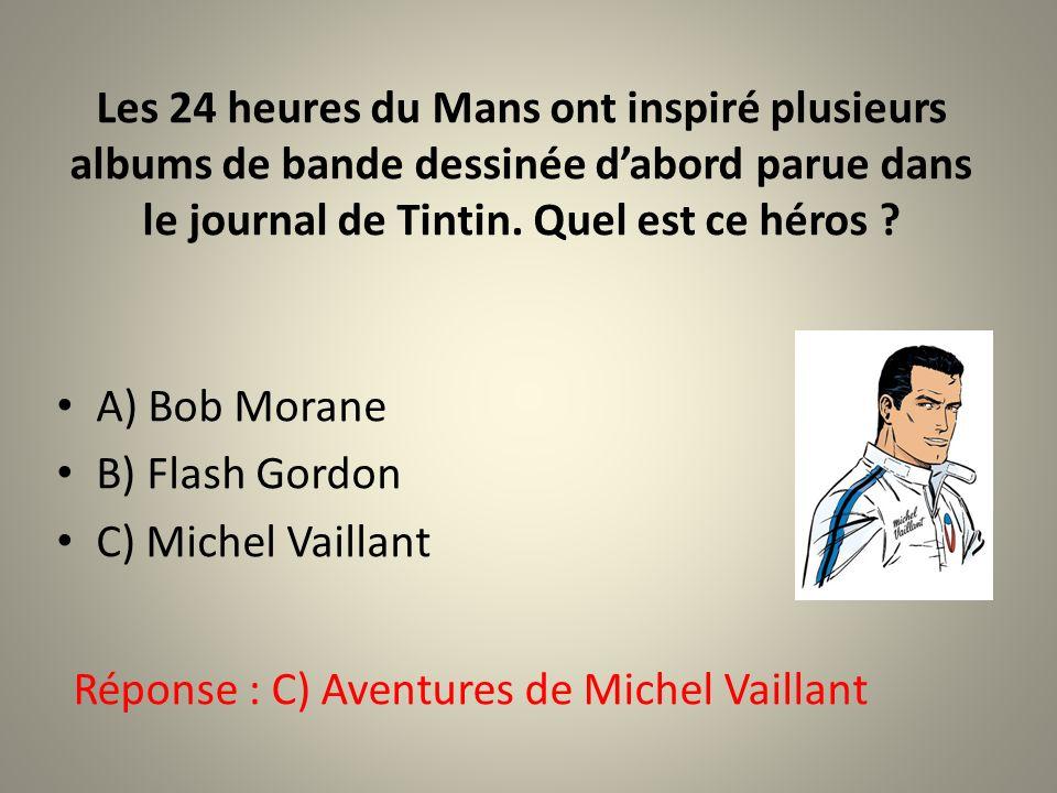 Les 24 heures du Mans ont inspiré plusieurs albums de bande dessinée d'abord parue dans le journal de Tintin. Quel est ce héros