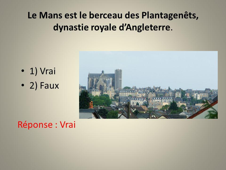 Le Mans est le berceau des Plantagenêts, dynastie royale d'Angleterre.