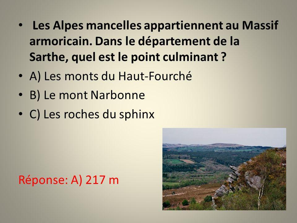 Les Alpes mancelles appartiennent au Massif armoricain
