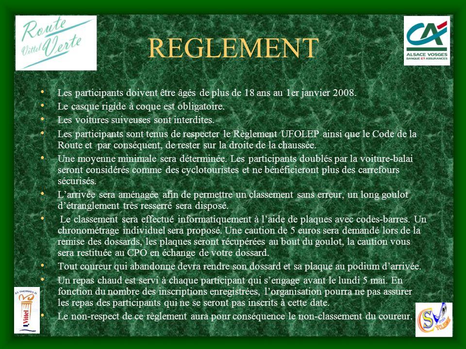 REGLEMENT Les participants doivent être âgés de plus de 18 ans au 1er janvier 2008. Le casque rigide à coque est obligatoire.