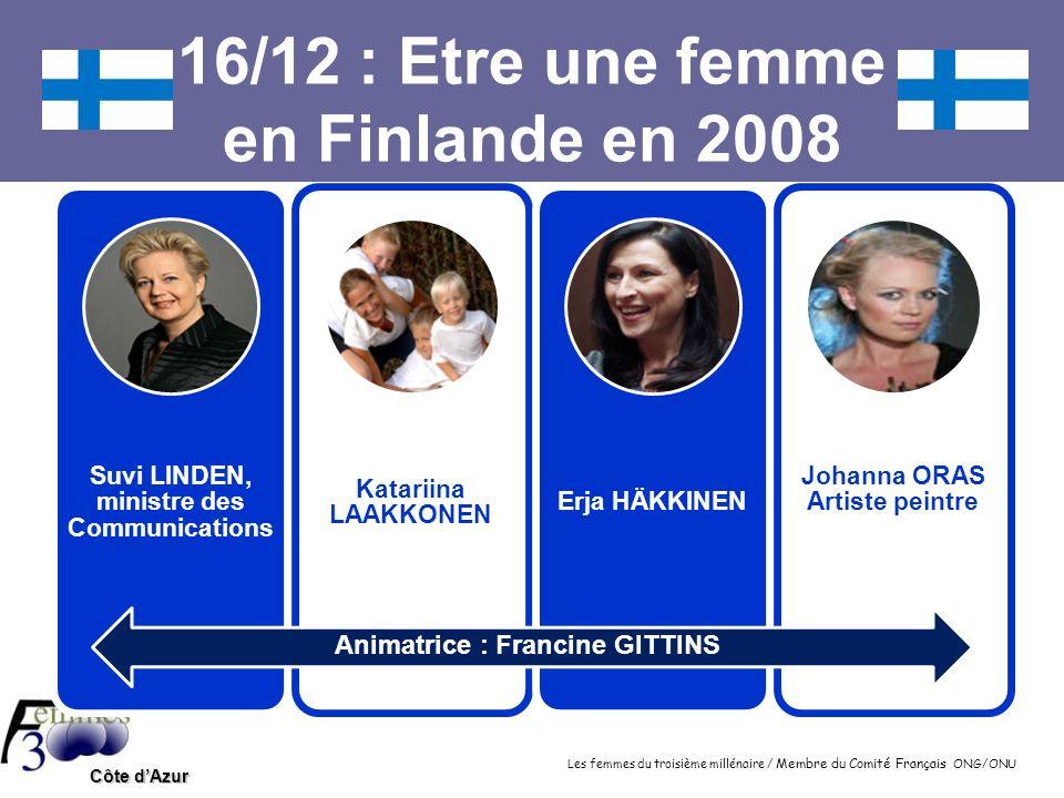 16/12 : Etre une femme en Finlande en 2008