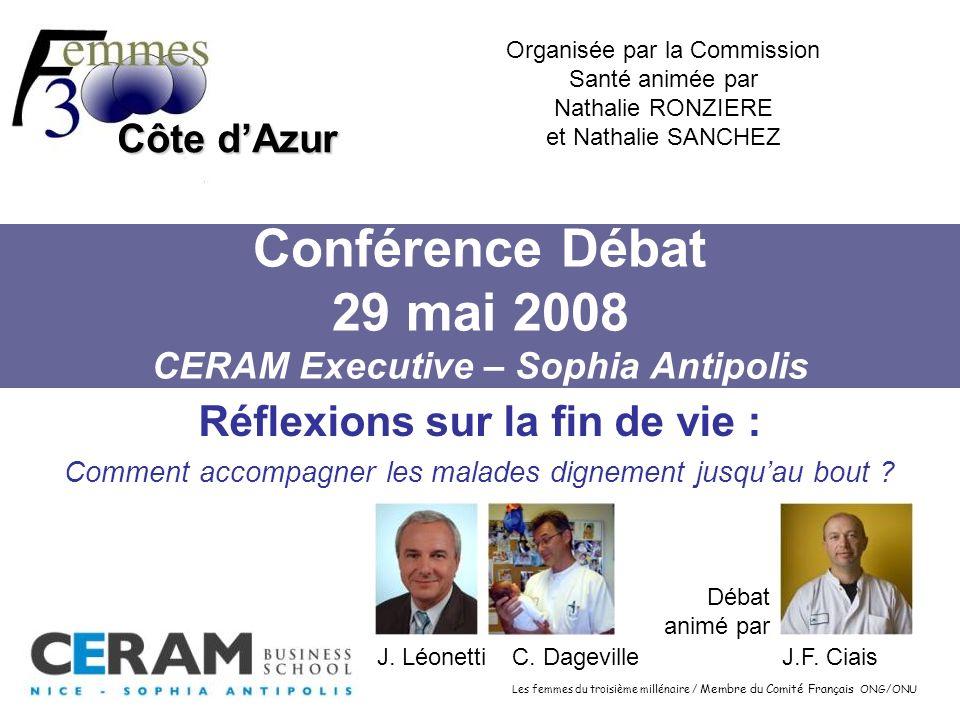 Conférence Débat 29 mai 2008 CERAM Executive – Sophia Antipolis