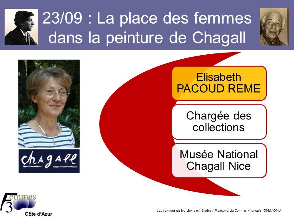 23/09 : La place des femmes dans la peinture de Chagall