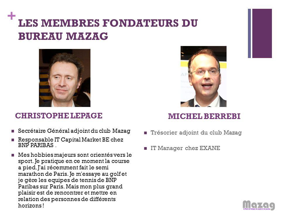 LES MEMBRES FONDATEURS DU BUREAU MAZAG