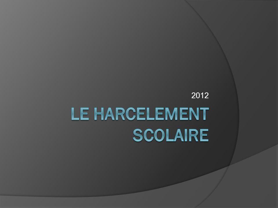 LE HARCELEMENT Scolaire