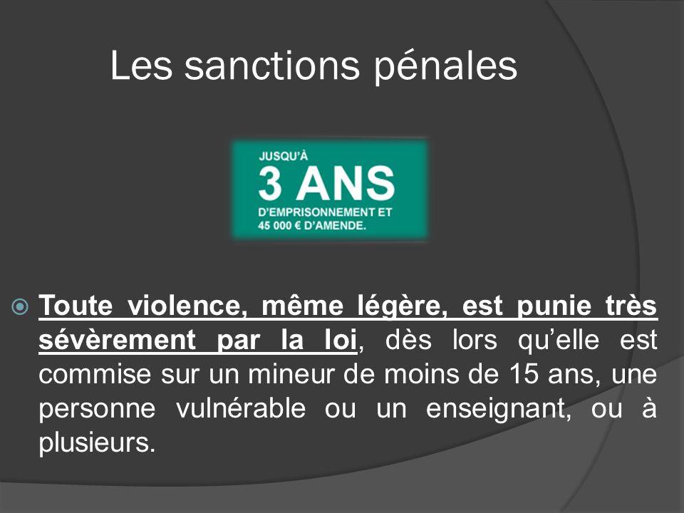 Les sanctions pénales