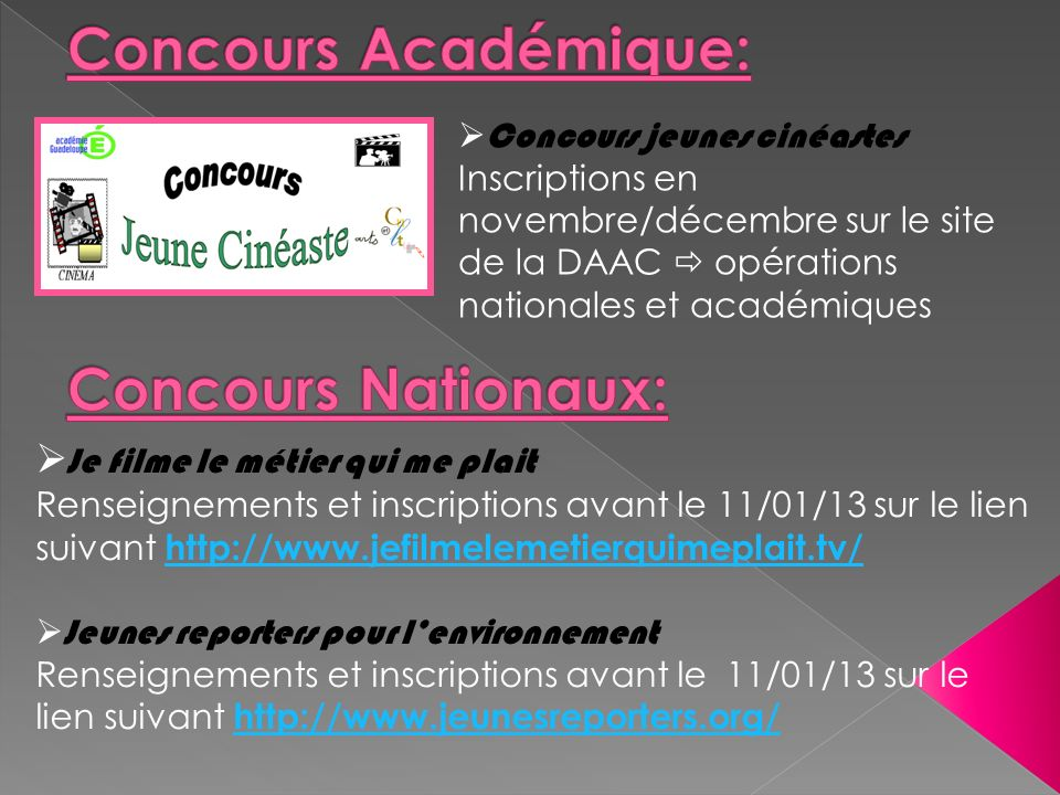 Concours Académique: Concours Nationaux: