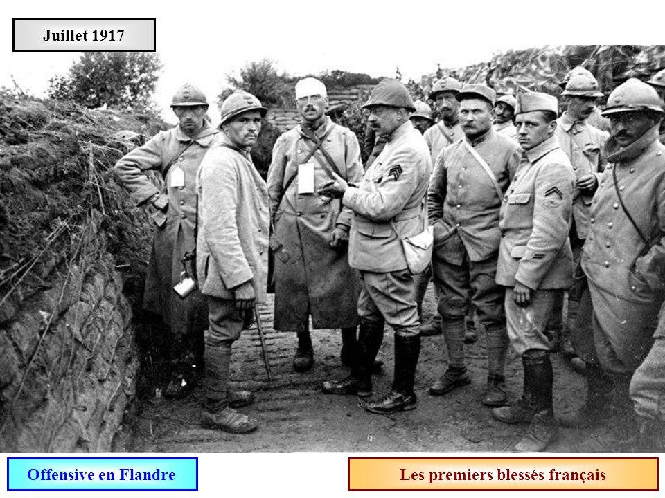 Les premiers blessés français