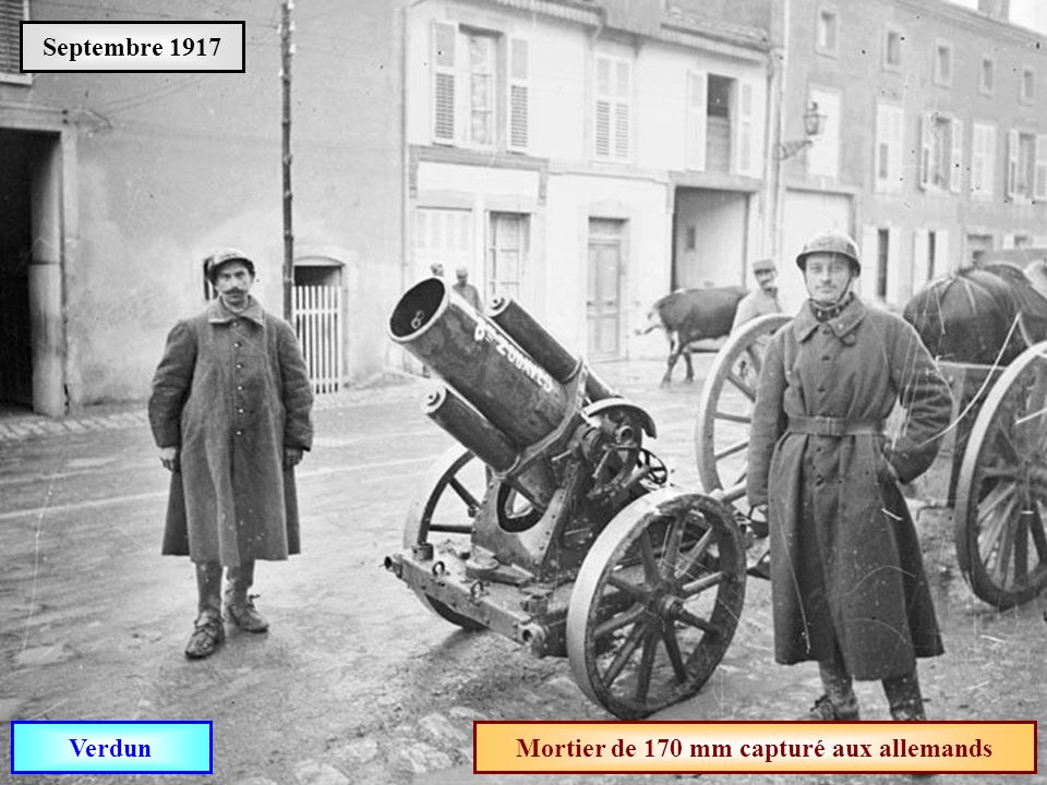 Mortier de 170 mm capturé aux allemands