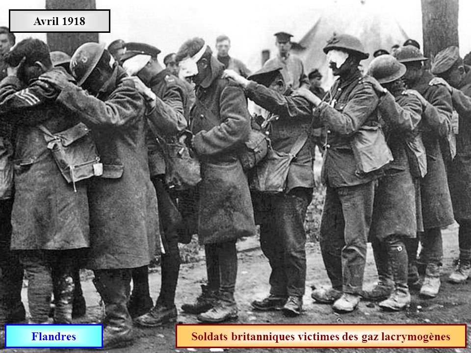 Soldats britanniques victimes des gaz lacrymogènes