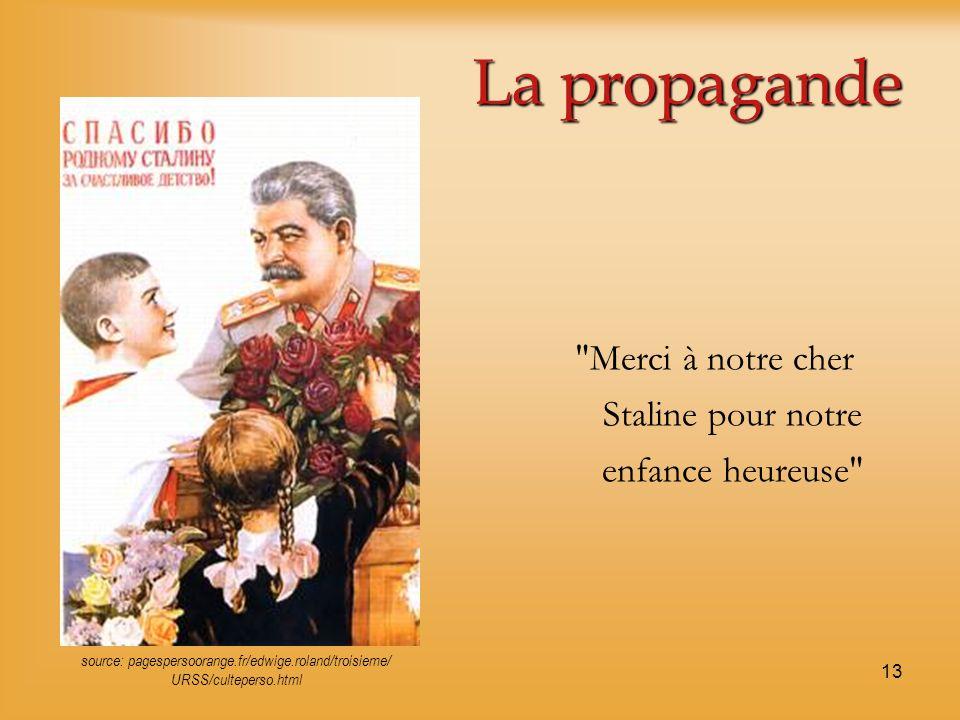La propagande Merci à notre cher Staline pour notre enfance heureuse