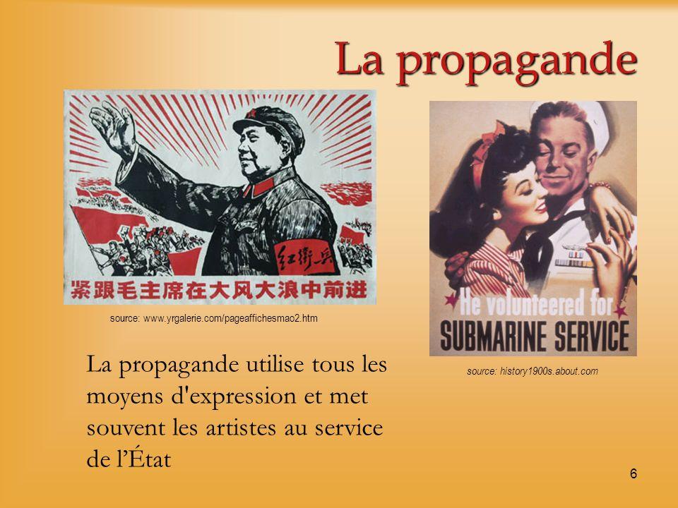 La propagande source: www.yrgalerie.com/pageaffichesmao2.htm.