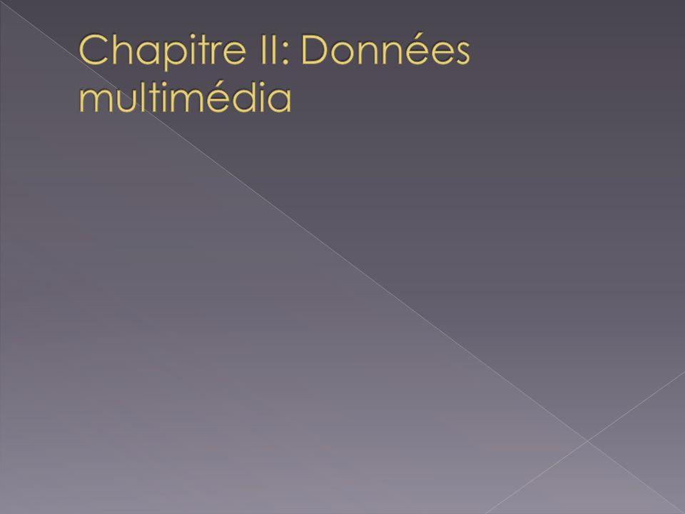 Chapitre II: Données multimédia