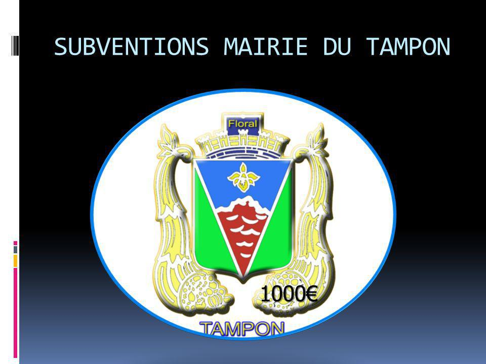 SUBVENTIONS MAIRIE DU TAMPON