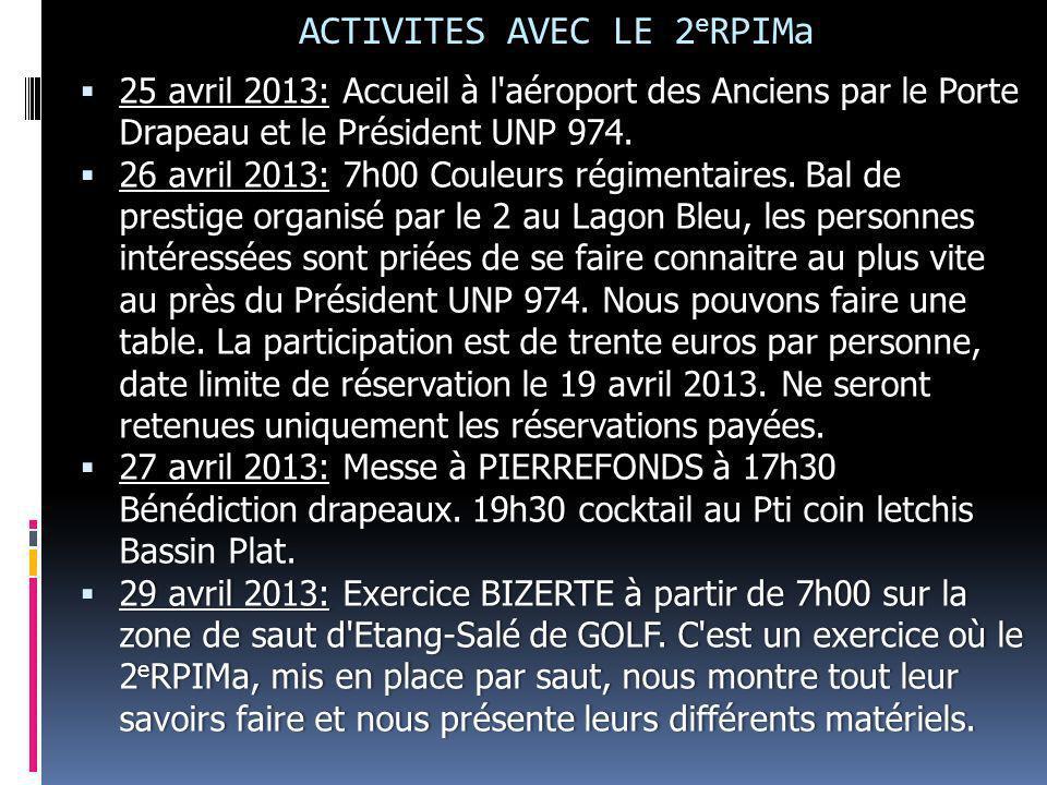 ACTIVITES AVEC LE 2eRPIMa