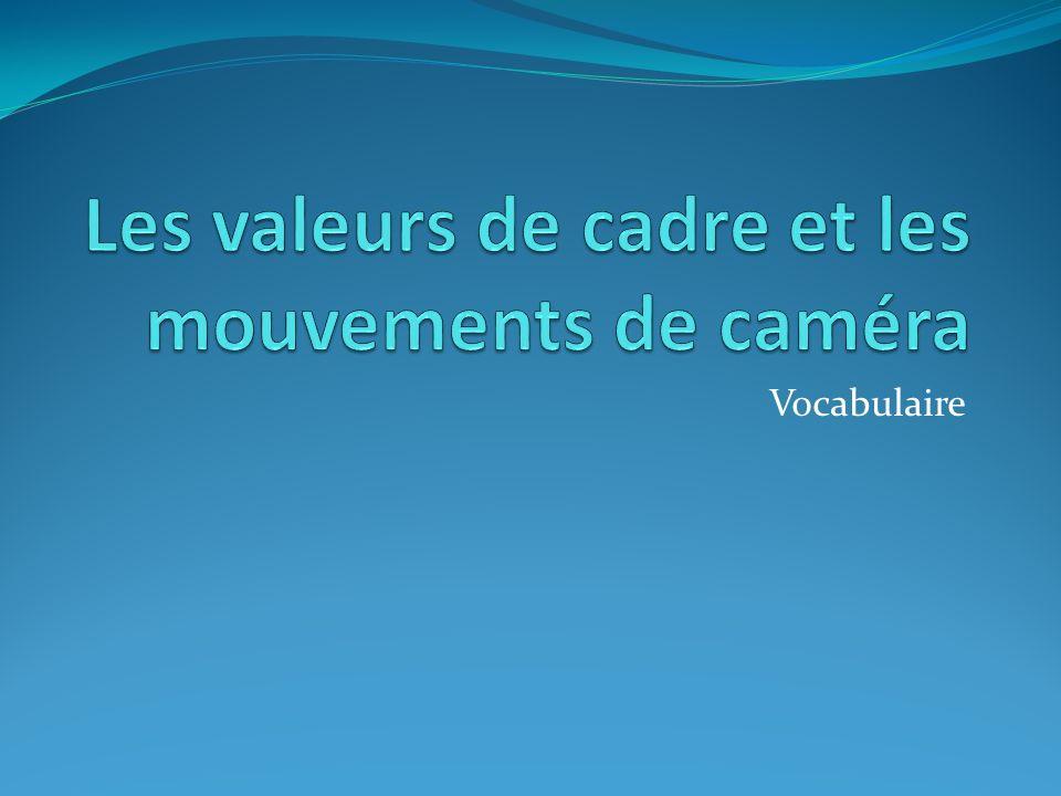 Les valeurs de cadre et les mouvements de caméra