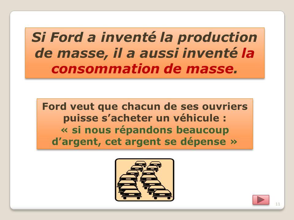 Si Ford a inventé la production de masse, il a aussi inventé la consommation de masse.