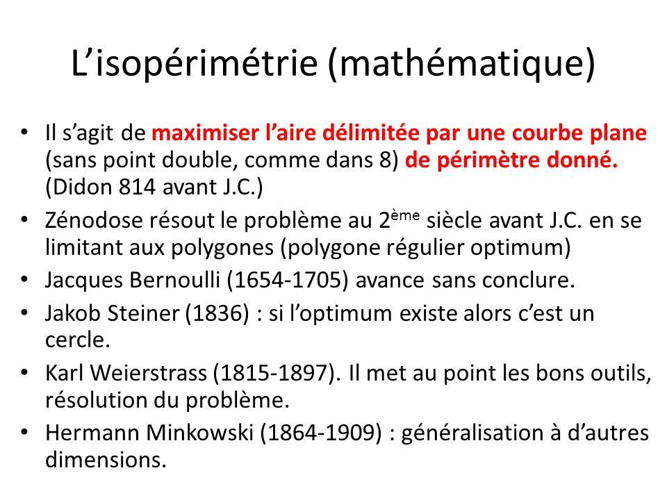 L'isopérimétrie (mathématique)