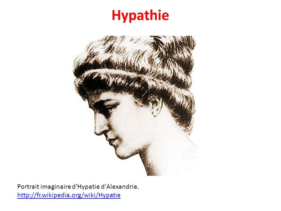 Hypathie Portrait imaginaire d Hypatie d Alexandrie.