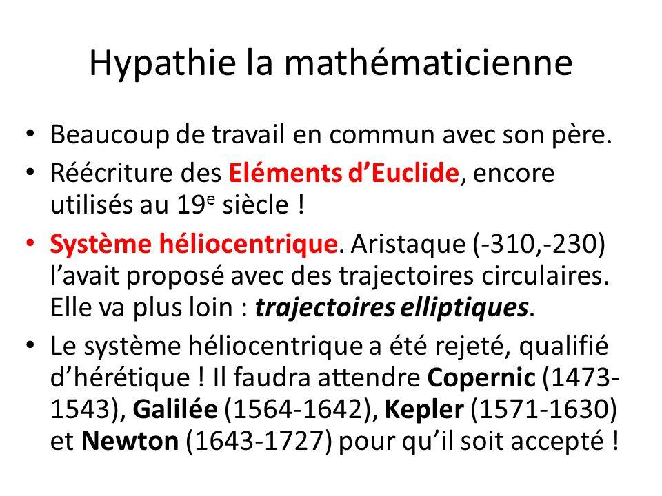 Hypathie la mathématicienne