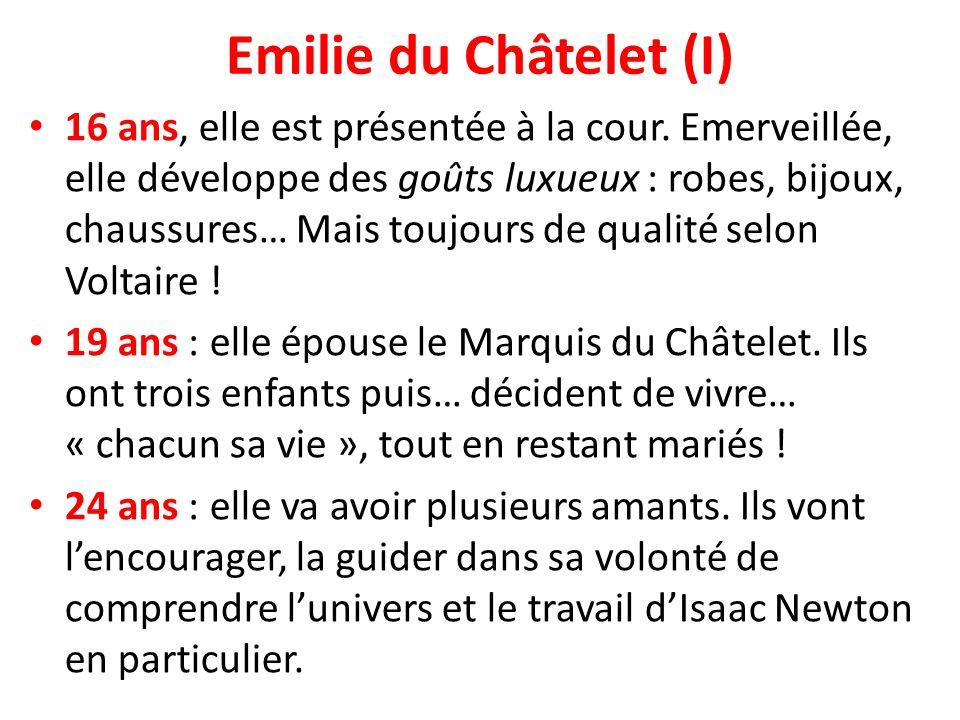 Emilie du Châtelet (I)