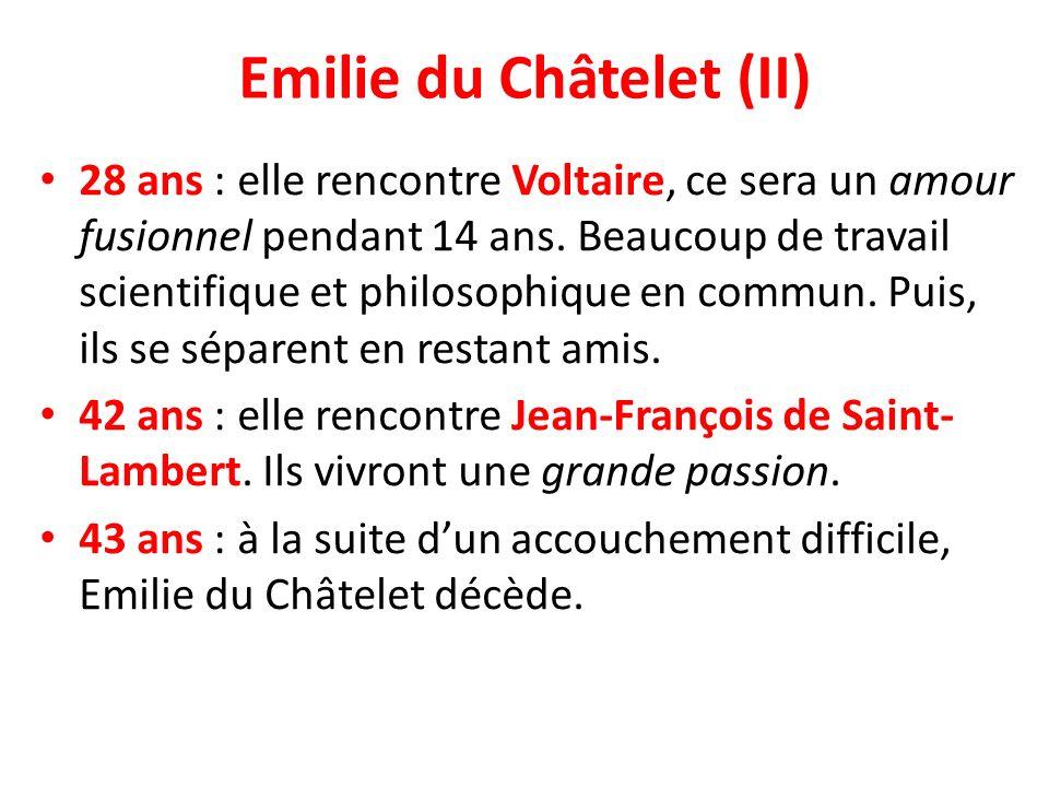 Emilie du Châtelet (II)