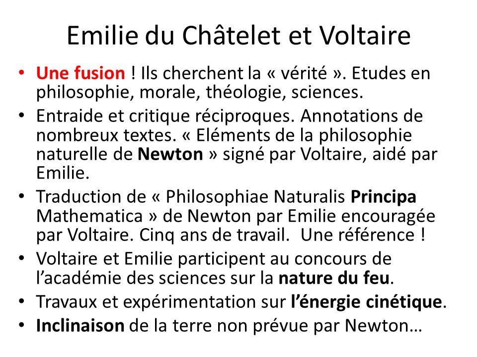 Emilie du Châtelet et Voltaire