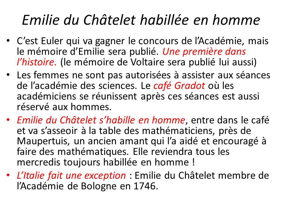 Emilie du Châtelet habillée en homme