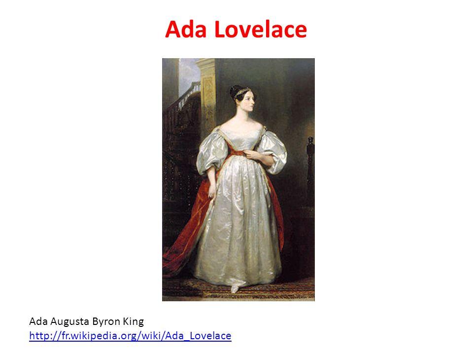 Ada Lovelace Ada Augusta Byron King