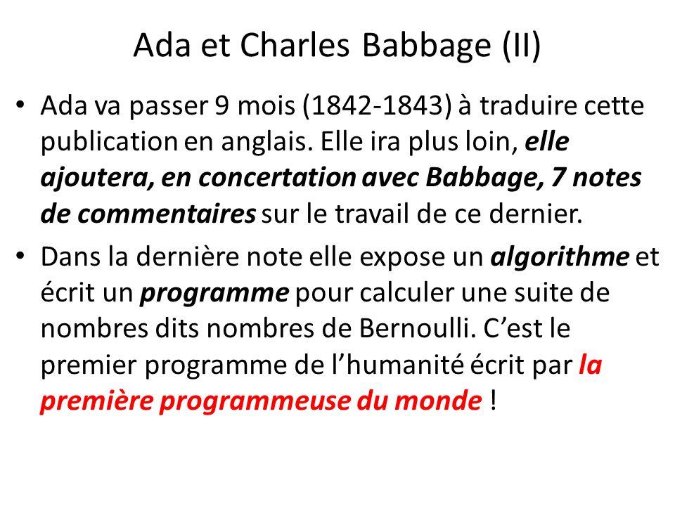 Ada et Charles Babbage (II)