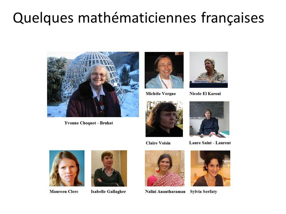 Quelques mathématiciennes françaises
