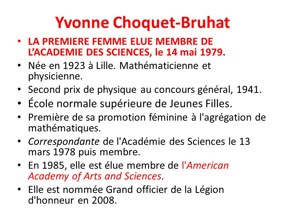 Yvonne Choquet-Bruhat