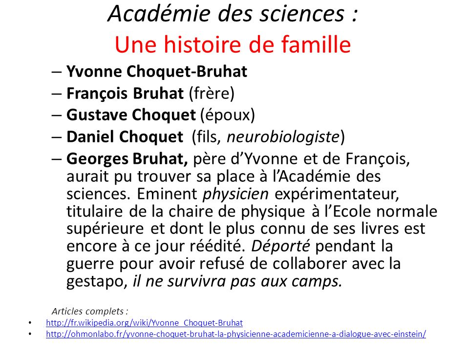 Académie des sciences : Une histoire de famille