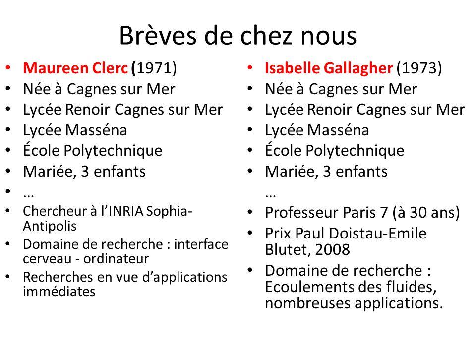 Brèves de chez nous Maureen Clerc (1971) Née à Cagnes sur Mer